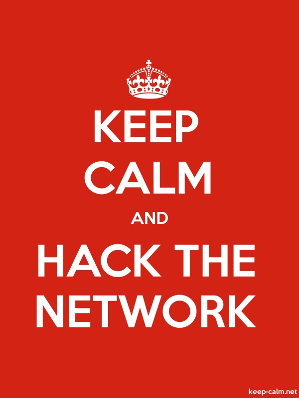 KEEP CALM AND HACK THE NETWORK - white/red - Default (600x800)