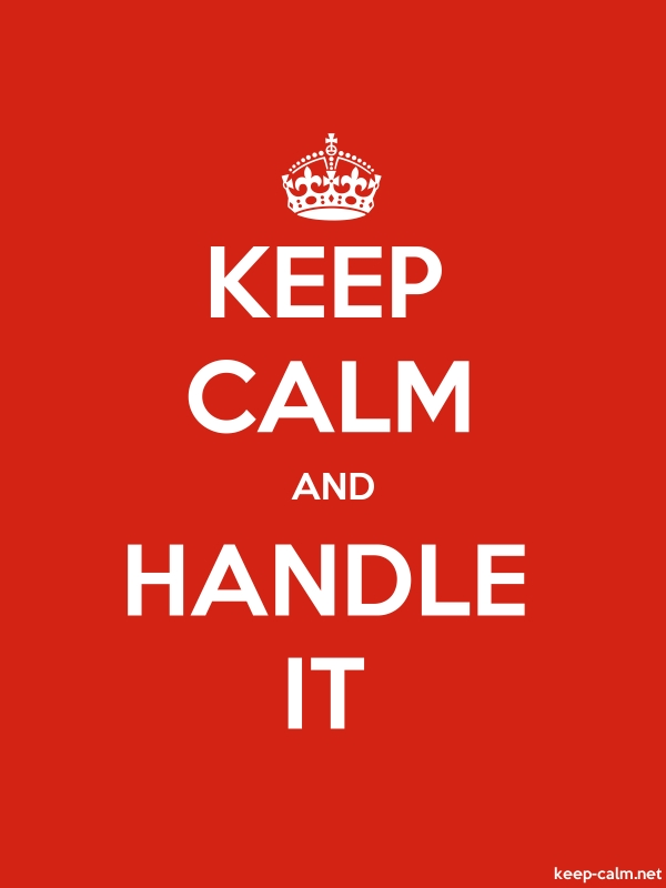 KEEP CALM AND HANDLE IT - white/red - Default (600x800)