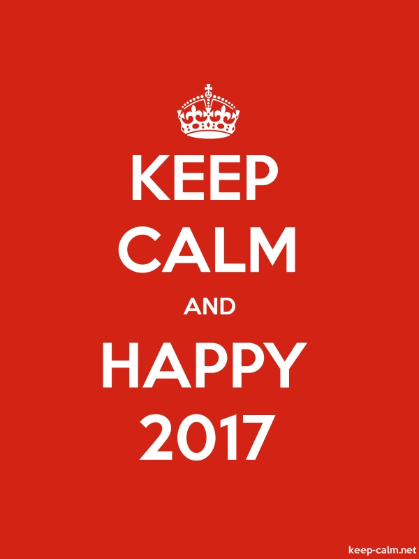 KEEP CALM AND HAPPY 2017 - white/red - Default (600x800)