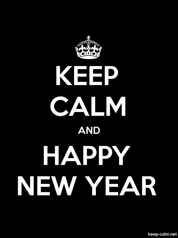 KEEP CALM AND HAPPY NEW YEAR - white/black - Default (600x800)