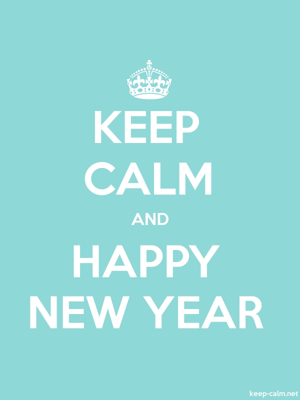 KEEP CALM AND HAPPY NEW YEAR - white/lightblue - Default (600x800)