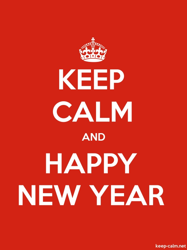 KEEP CALM AND HAPPY NEW YEAR - white/red - Default (600x800)