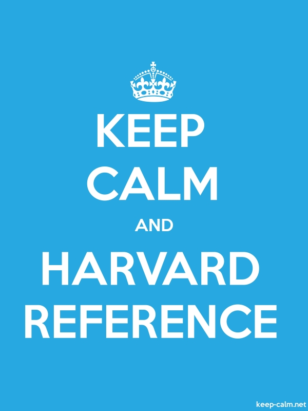 KEEP CALM AND HARVARD REFERENCE - white/blue - Default (600x800)