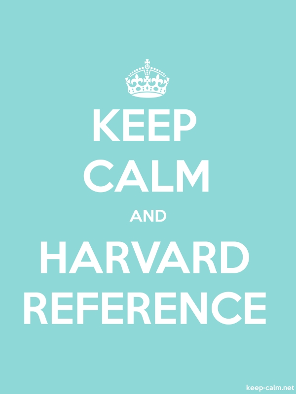 KEEP CALM AND HARVARD REFERENCE - white/lightblue - Default (600x800)