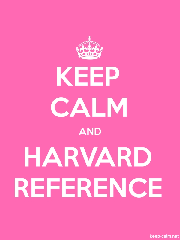KEEP CALM AND HARVARD REFERENCE - white/pink - Default (600x800)