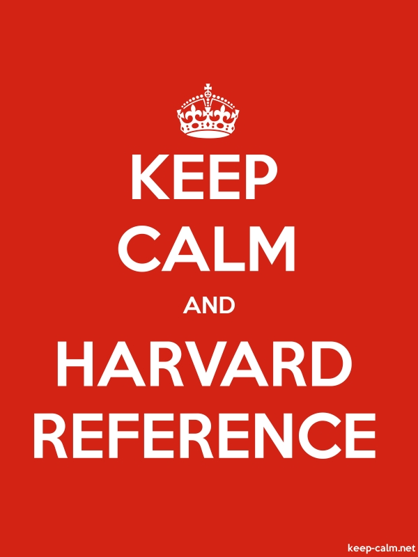 KEEP CALM AND HARVARD REFERENCE - white/red - Default (600x800)