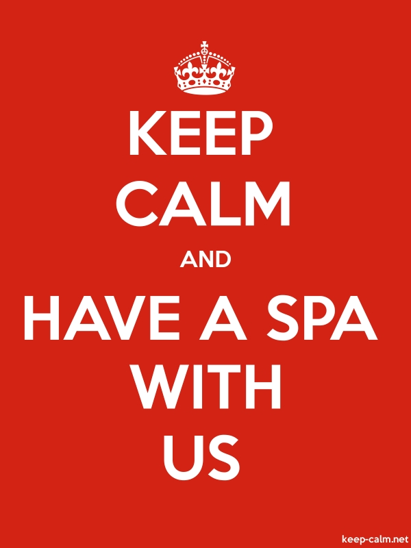 KEEP CALM AND HAVE A SPA WITH US - white/red - Default (600x800)