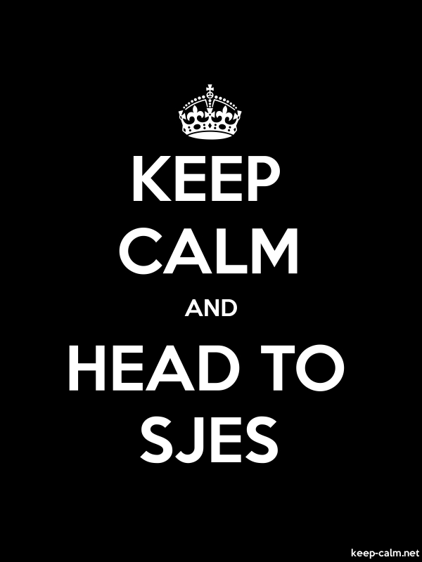 KEEP CALM AND HEAD TO SJES - white/black - Default (600x800)