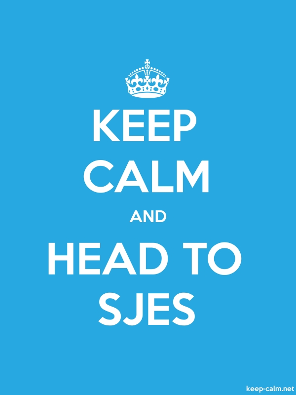 KEEP CALM AND HEAD TO SJES - white/blue - Default (600x800)