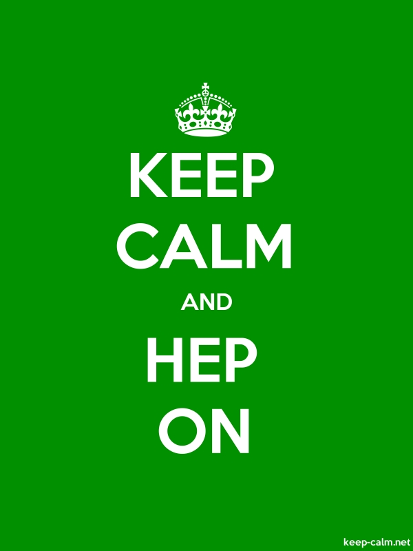 KEEP CALM AND HEP ON - white/green - Default (600x800)