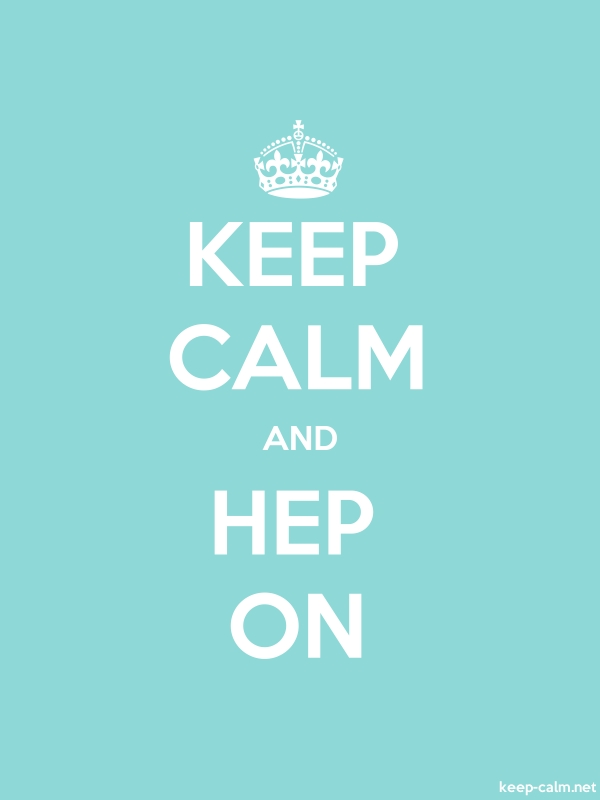 KEEP CALM AND HEP ON - white/lightblue - Default (600x800)