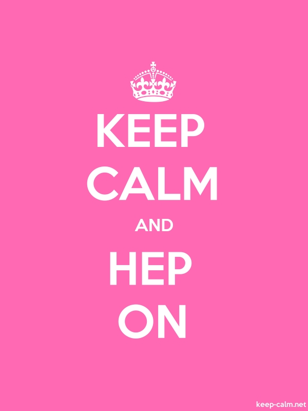 KEEP CALM AND HEP ON - white/pink - Default (600x800)