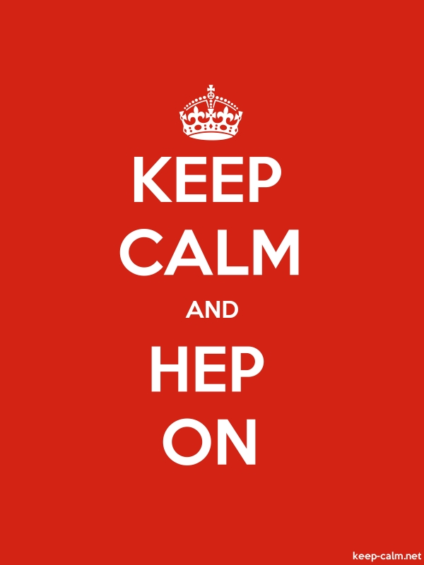 KEEP CALM AND HEP ON - white/red - Default (600x800)