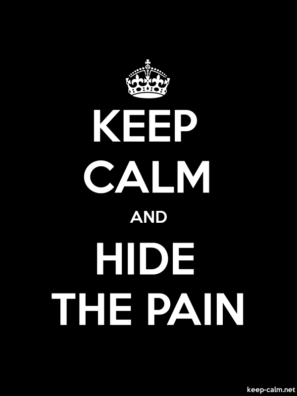 KEEP CALM AND HIDE THE PAIN - white/black - Default (600x800)