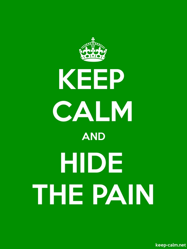KEEP CALM AND HIDE THE PAIN - white/green - Default (600x800)