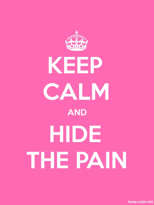 KEEP CALM AND HIDE THE PAIN - white/pink - Default (600x800)