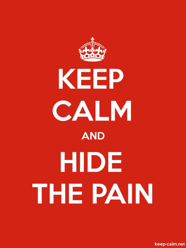 KEEP CALM AND HIDE THE PAIN - white/red - Default (600x800)