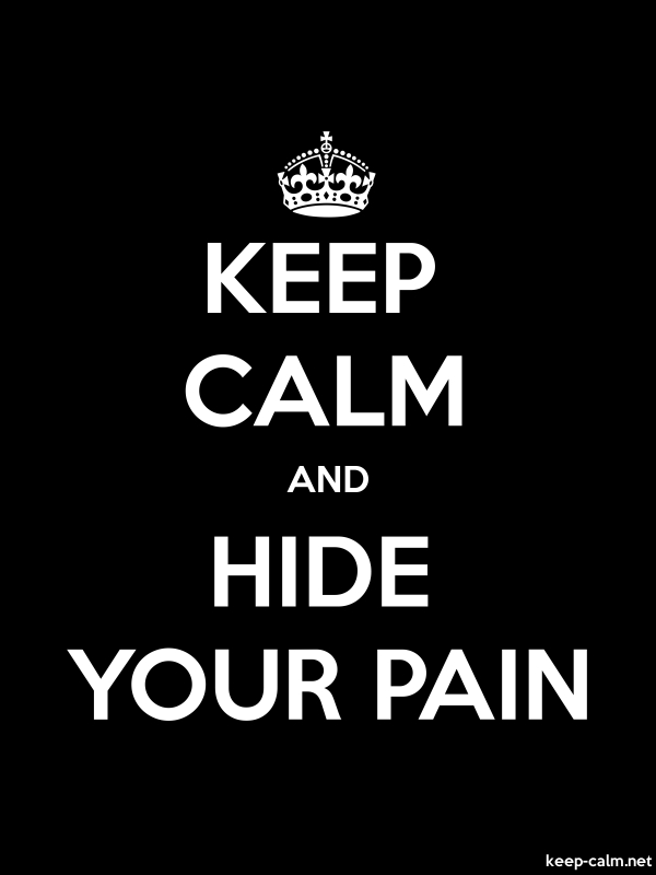 KEEP CALM AND HIDE YOUR PAIN - white/black - Default (600x800)