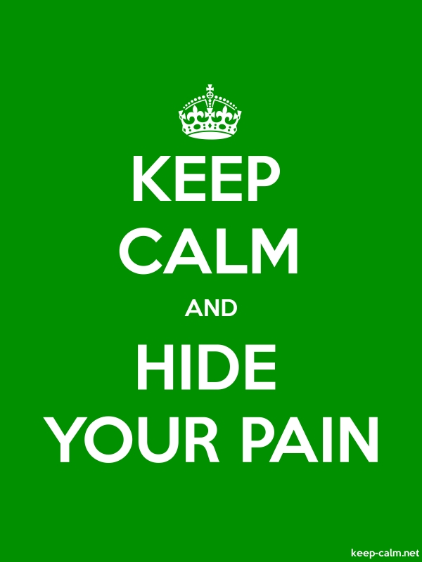 KEEP CALM AND HIDE YOUR PAIN - white/green - Default (600x800)