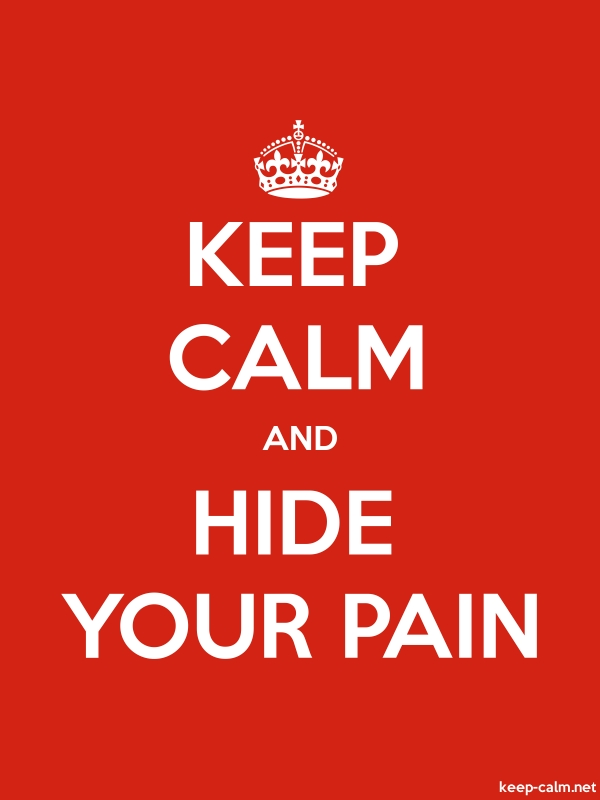 KEEP CALM AND HIDE YOUR PAIN - white/red - Default (600x800)