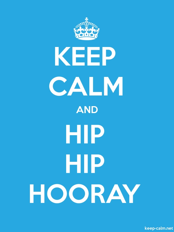 KEEP CALM AND HIP HIP HOORAY - white/blue - Default (600x800)