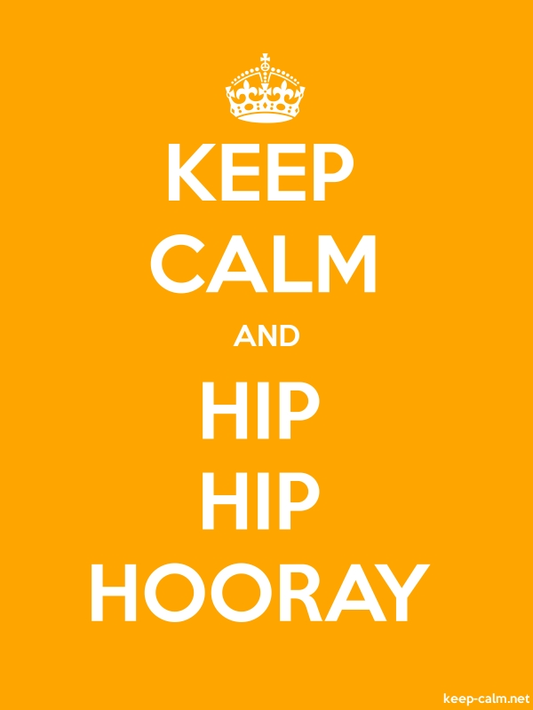 KEEP CALM AND HIP HIP HOORAY - white/orange - Default (600x800)