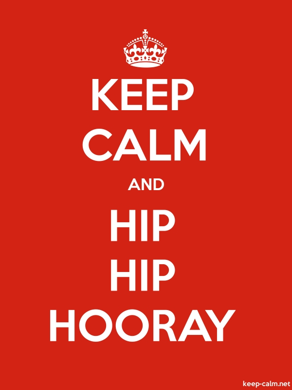 KEEP CALM AND HIP HIP HOORAY - white/red - Default (600x800)