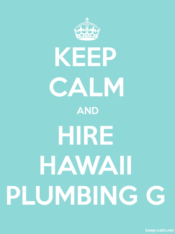 KEEP CALM AND HIRE HAWAII PLUMBING G - white/lightblue - Default (600x800)