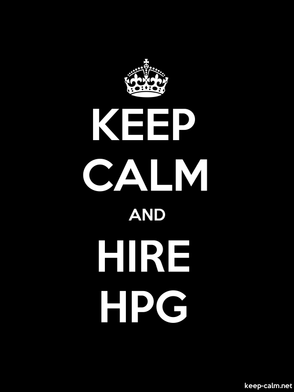 KEEP CALM AND HIRE HPG - white/black - Default (600x800)