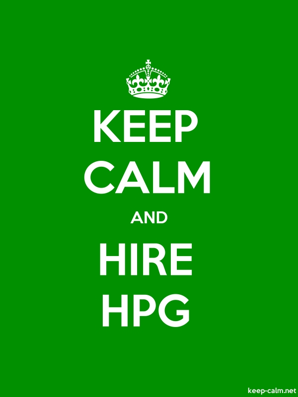 KEEP CALM AND HIRE HPG - white/green - Default (600x800)