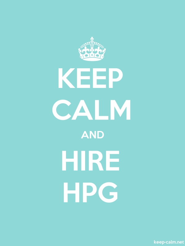 KEEP CALM AND HIRE HPG - white/lightblue - Default (600x800)