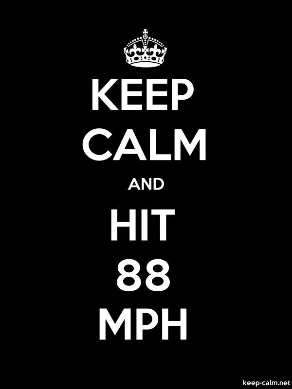 KEEP CALM AND HIT 88 MPH - white/black - Default (600x800)