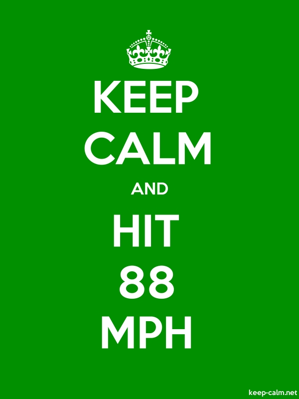 KEEP CALM AND HIT 88 MPH - white/green - Default (600x800)