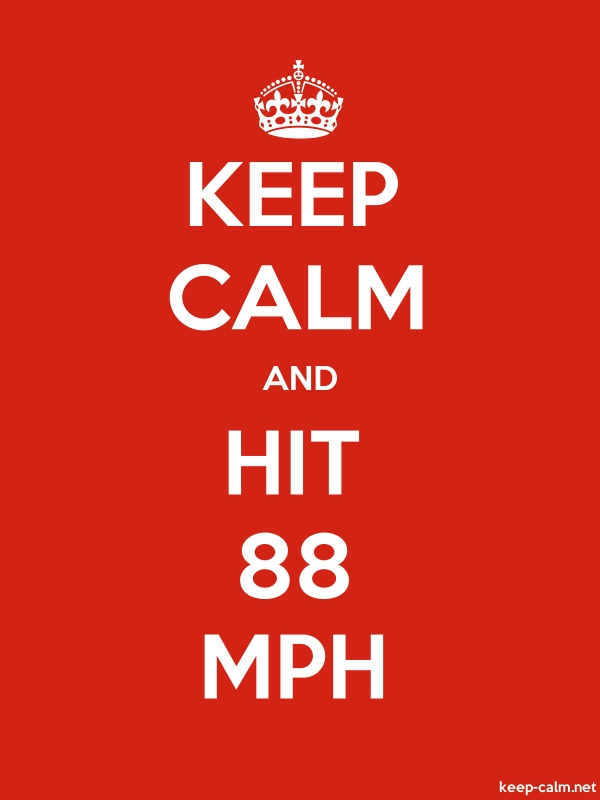 KEEP CALM AND HIT 88 MPH - white/red - Default (600x800)