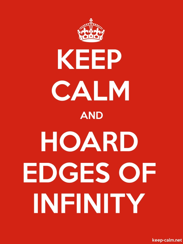 KEEP CALM AND HOARD EDGES OF INFINITY - white/red - Default (600x800)