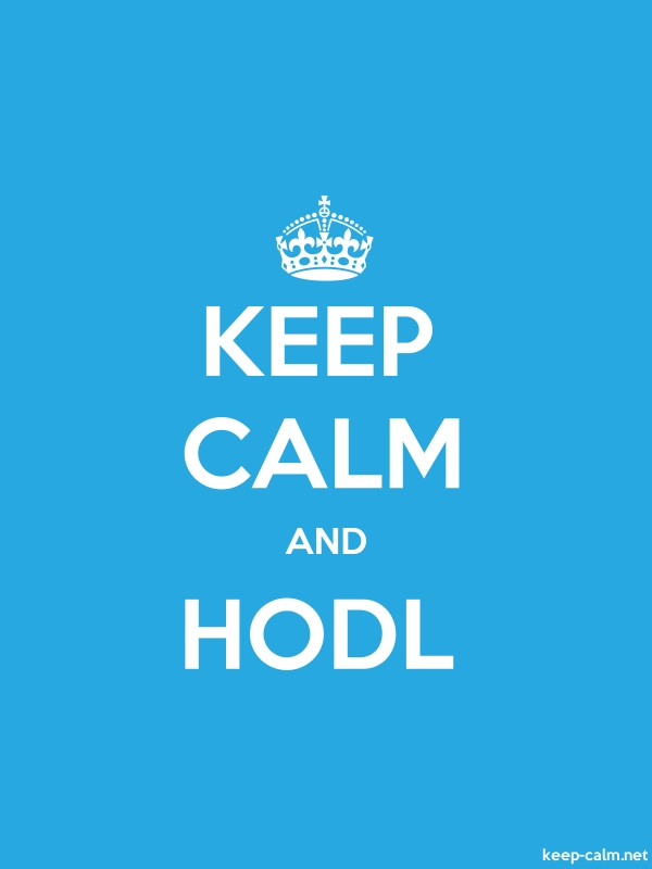 KEEP CALM AND HODL - white/blue - Default (600x800)