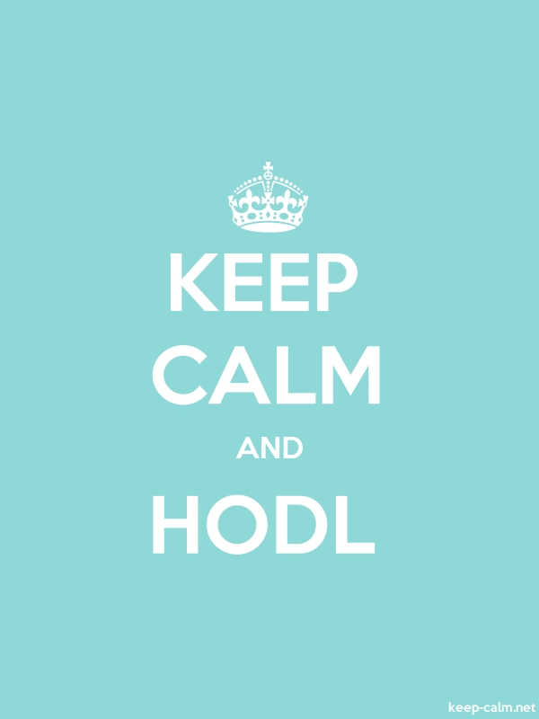 KEEP CALM AND HODL - white/lightblue - Default (600x800)