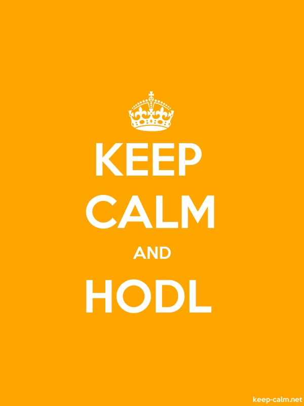 KEEP CALM AND HODL - white/orange - Default (600x800)