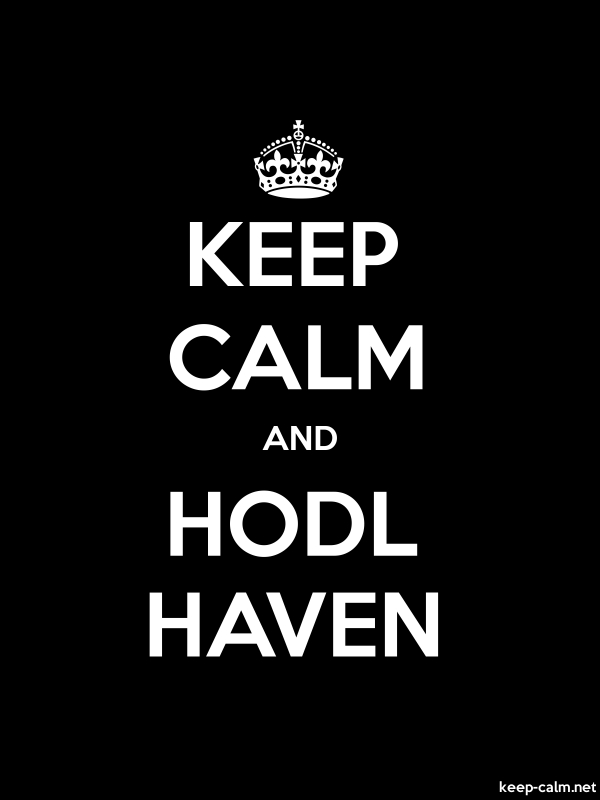 KEEP CALM AND HODL HAVEN - white/black - Default (600x800)