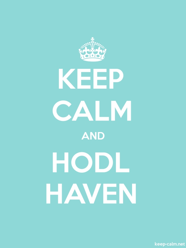 KEEP CALM AND HODL HAVEN - white/lightblue - Default (600x800)
