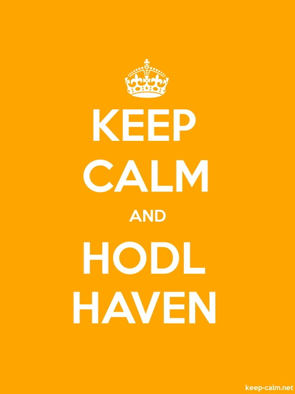 KEEP CALM AND HODL HAVEN - white/orange - Default (600x800)
