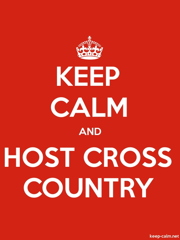 KEEP CALM AND HOST CROSS COUNTRY - white/red - Default (600x800)