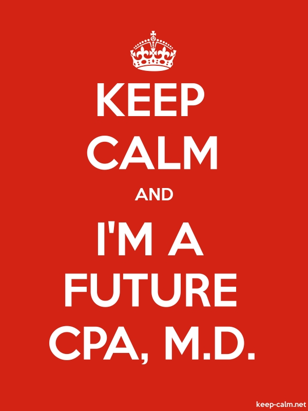 KEEP CALM AND I'M A FUTURE CPA, M.D. - white/red - Default (600x800)