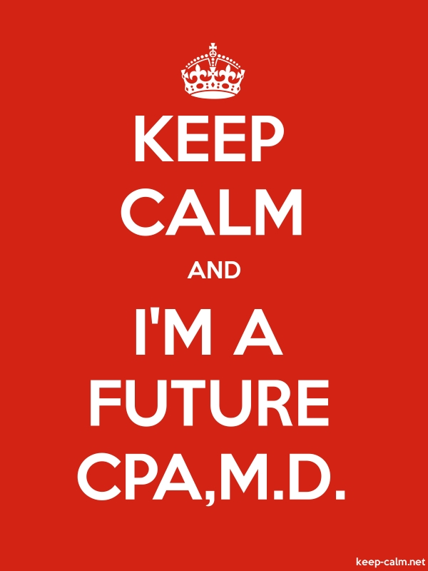 KEEP CALM AND I'M A FUTURE CPA,M.D. - white/red - Default (600x800)