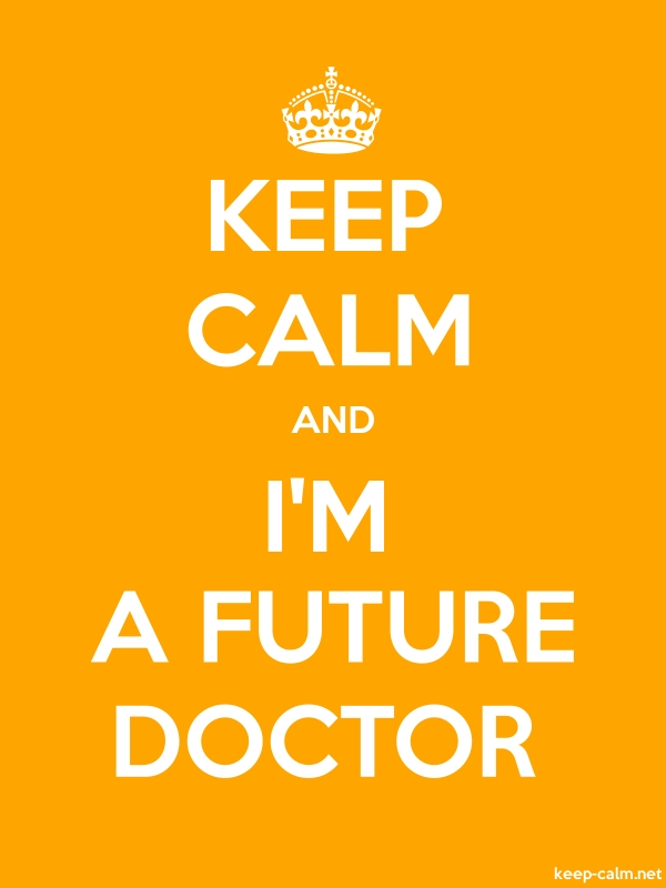 KEEP CALM AND I'M A FUTURE DOCTOR - white/orange - Default (600x800)
