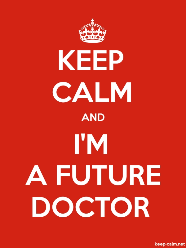 KEEP CALM AND I'M A FUTURE DOCTOR - white/red - Default (600x800)