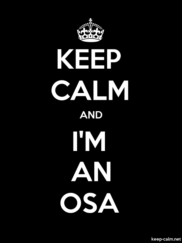 KEEP CALM AND I'M AN OSA - white/black - Default (600x800)