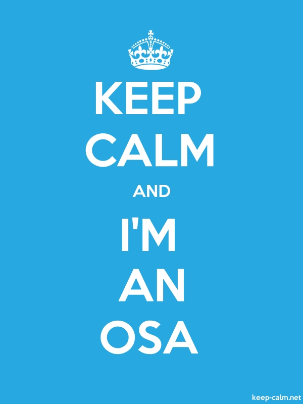 KEEP CALM AND I'M AN OSA - white/blue - Default (600x800)
