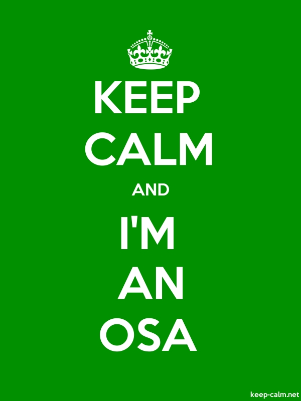 KEEP CALM AND I'M AN OSA - white/green - Default (600x800)