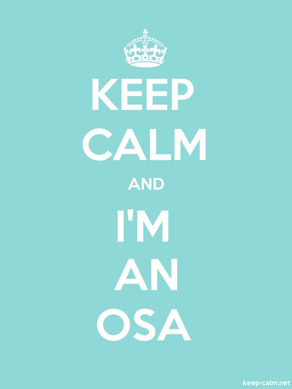 KEEP CALM AND I'M AN OSA - white/lightblue - Default (600x800)